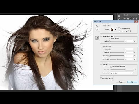How can black hair be changed to white hair in Photoshop ...