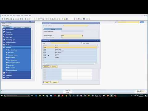 Setup Item Group and Item Master in SAP Business One