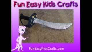 Make a pirate cutlass sword
