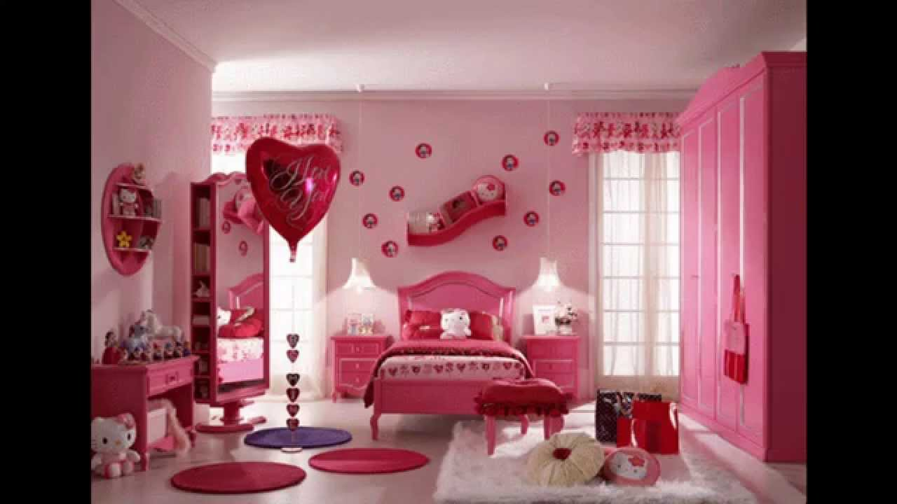 Girly bedroom decorating ideas - YouTube
