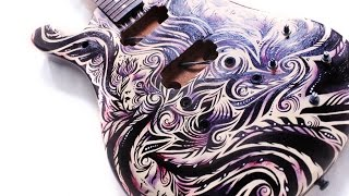 How to paint Guitar. NK