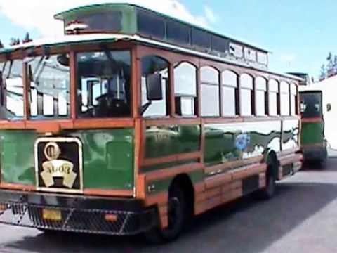Crater Lake Trolley operated by The Shuttle of Klamath Falls Oregon