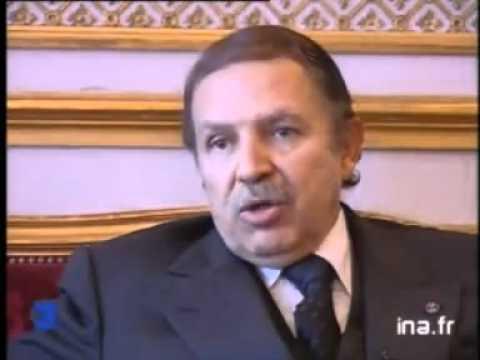 ALGERIE interview de Abdelaziz Bouteflika (Air France, lutte anti-térrorsite)