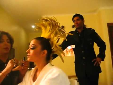 Aishwarya getting ready for the 'Killimanjaro' song from Robot