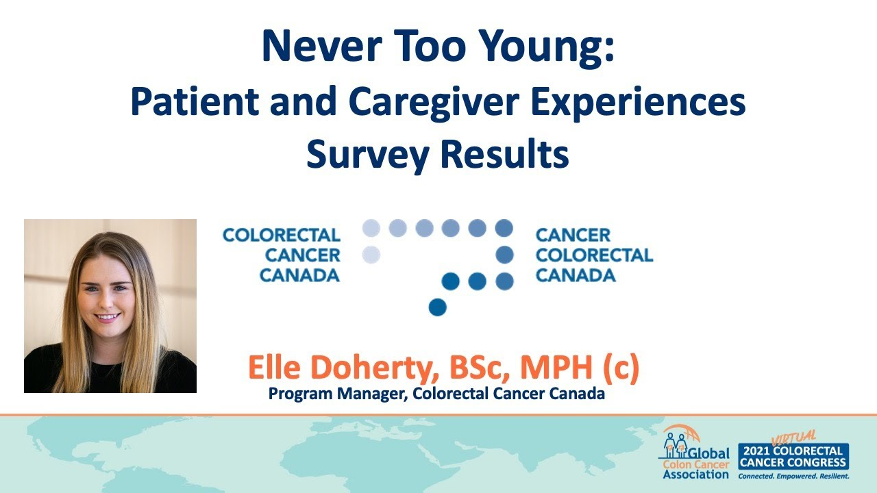 Never Too Young: Patient and Caregiver Experiences Survey Results. Presenter: Elle Doherty