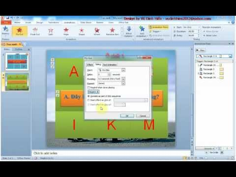 [AdmHien]Hướng dẫn làm trò chơi ô chữ bằng Powerpoint 2010