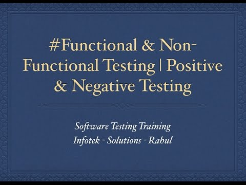 Funtional and Non Functional Testing | Positive Negative Testing | Test Case Writing Gmail