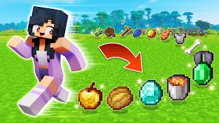 Minecraft But Moving Gives You ANY ITEM! (super OP!)
