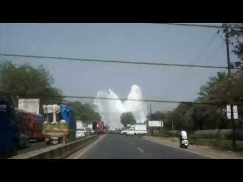 Water Pipeline Burst near Navi Mumbai