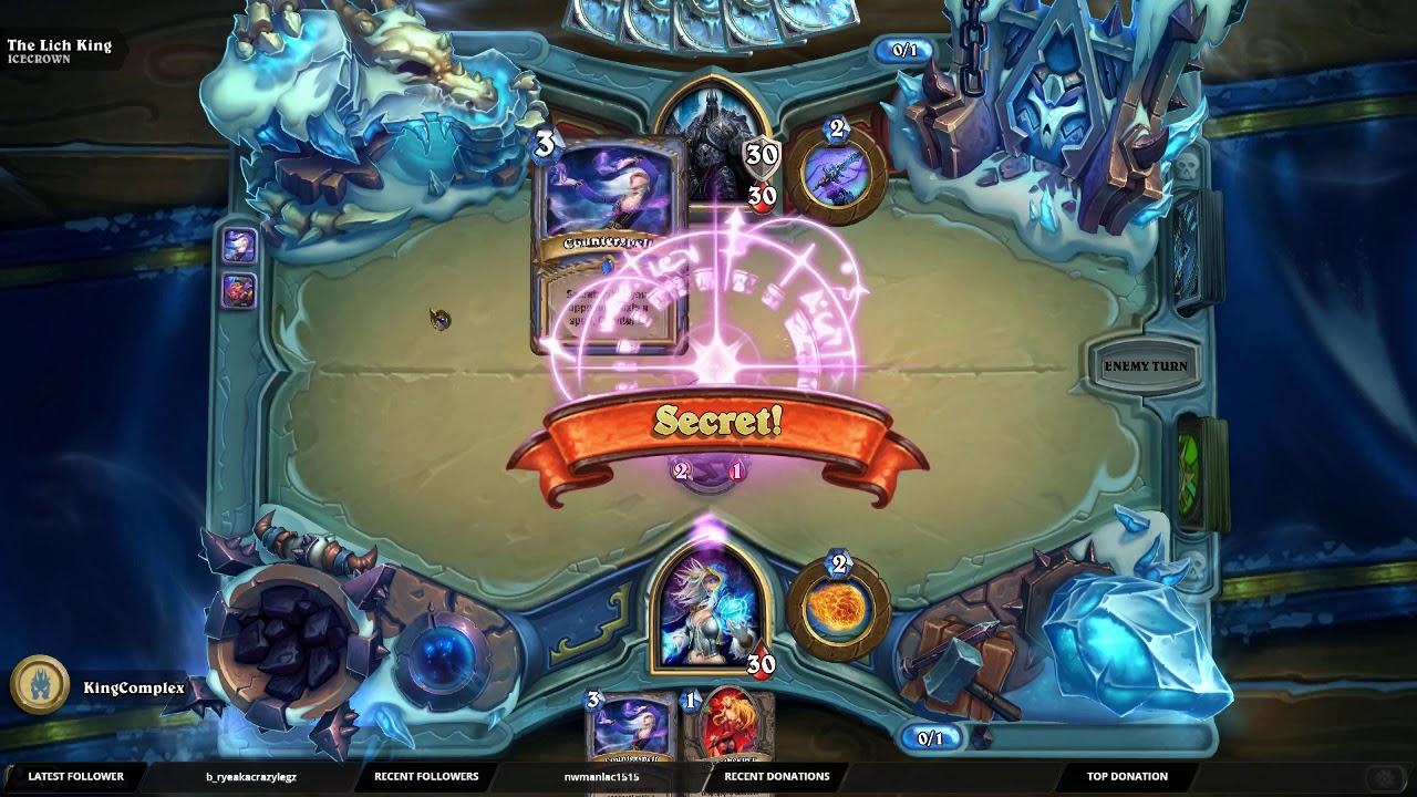 Hearthstone | Trick to help beat The Lich King | Mage Version