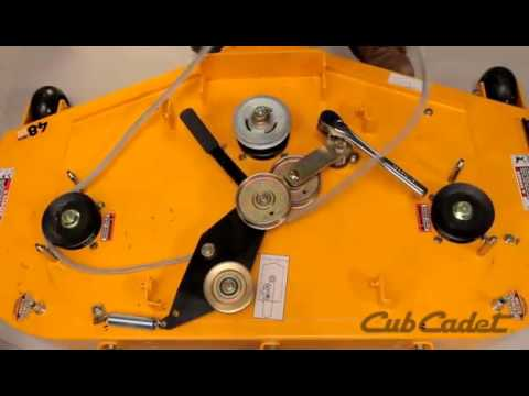 How to Change the Deck Belt on a Cub Cadet Zero Turn Using