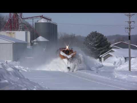 Train Snow Plowing