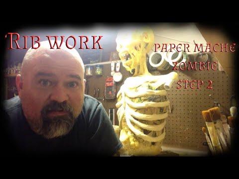 Making a paper mache zombie part 2