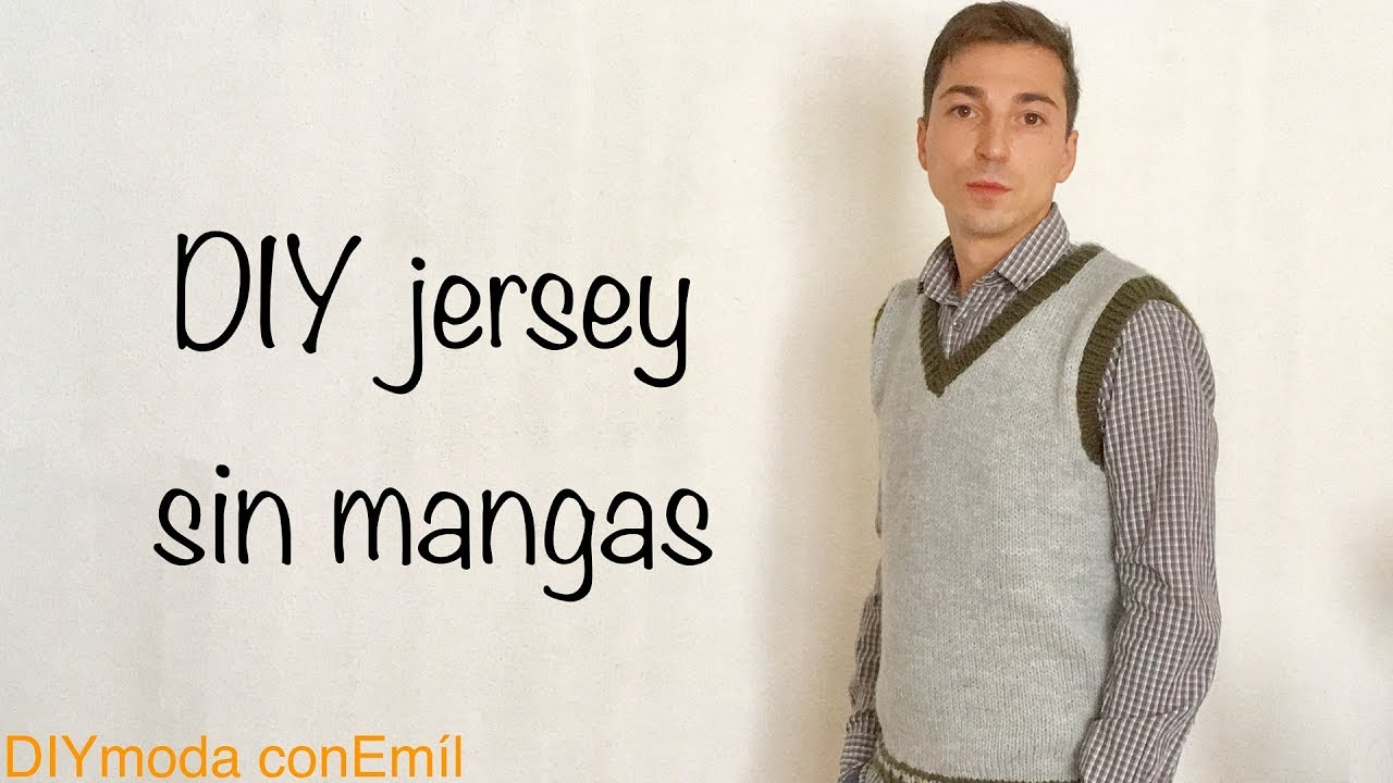 Jersey o suéter de hombre a dos agujas paso a paso - YouTube