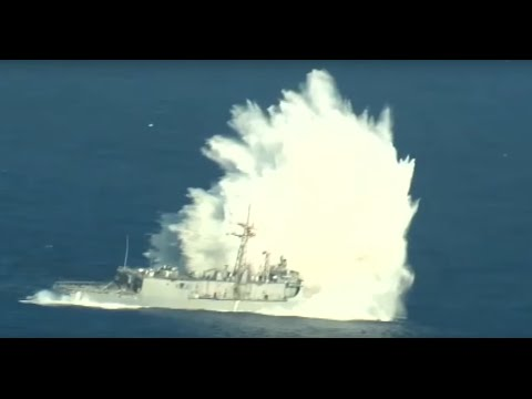 Former Navy Ship Hit in Live Fire Exercise