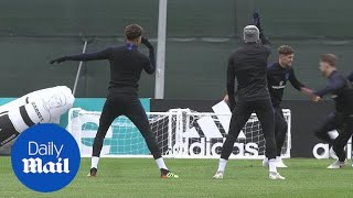 England in high spirits in training before Colombia match