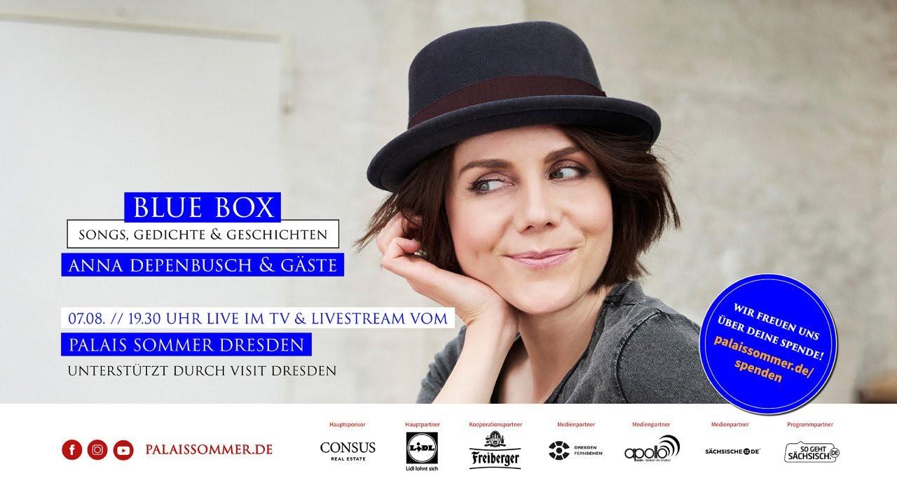 """LIVESTREAM: """"BLUE BOX - Anna Depenbusch & Gäste"""" - 07.08. // 19:30 Uhr"""