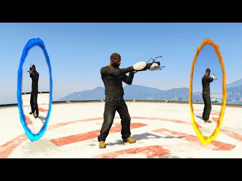 ULTIMATE PORTAL MOD! (GTA 5 Mods Funny...