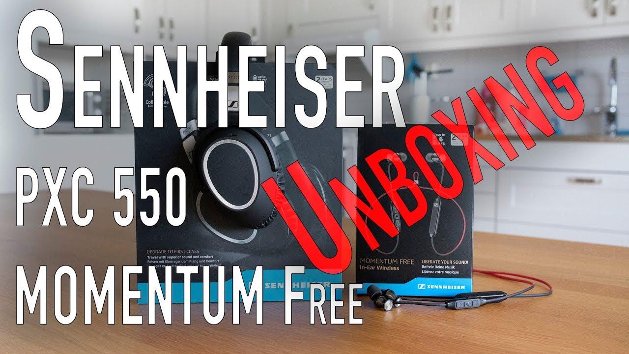 b941e96e48d Unboxing - Sennheiser PXC 550 & Sennheiser Momentum Free - YouTube