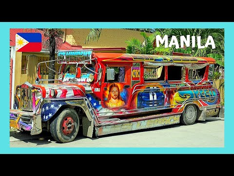MANILA, JEEPNEY (or JEEPS) TRANSPORTATION in the Philippines