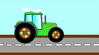 Мультфильм для Детей,Развивающий мультфильм про трактор,Учим цвета