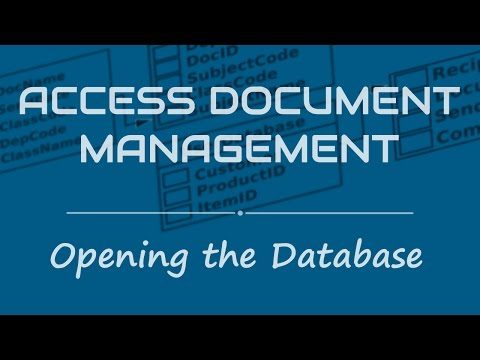 Access Document Management System- How to open Access database