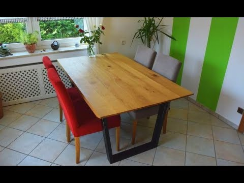 diy designertisch k chentisch selber bauen youtube. Black Bedroom Furniture Sets. Home Design Ideas