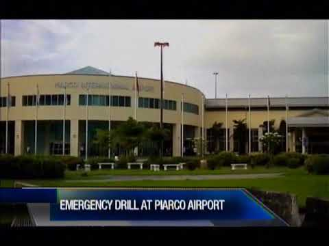 Emergency Drill At Piarco International Airport