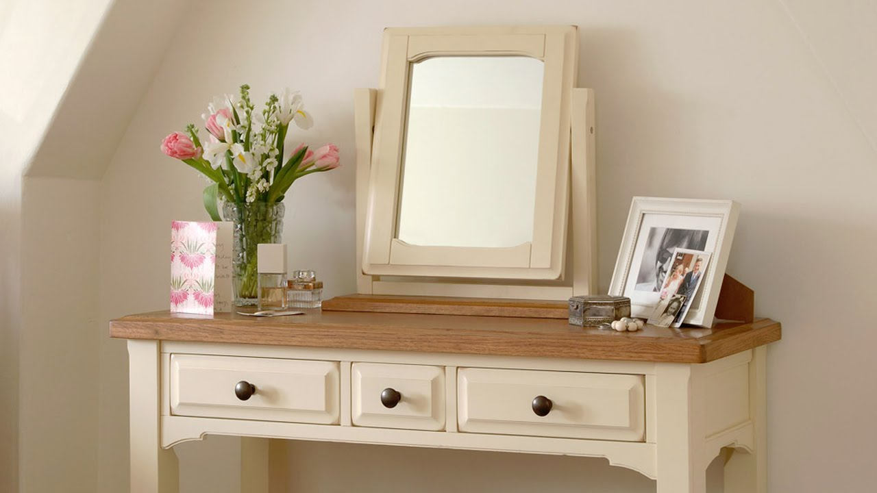 Clermont shabby chic painted dressing table set pinesolutions clermont shabby chic painted dressing table set pinesolutions youtube geotapseo Images