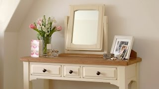 Clermont Shabby Chic Painted Dressing Table Set - Pinesolutions