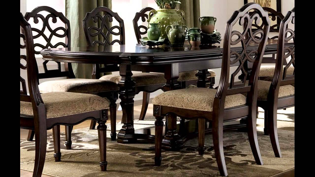 chairs for dining room set fitted chair covers cheap sets ashley furniture youtube