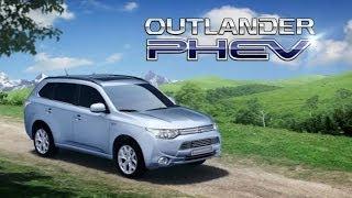 Электромобиль обзор Mitsubishi Outlander PHEV гибрид Электромобиль