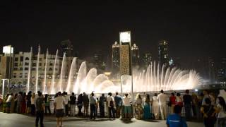 Dubai Fountain Arabic Nights Song High Quality Burj Khalifa