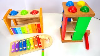 best learning compilation video for kids ball pounding toys ice cream duplo lego blocks more