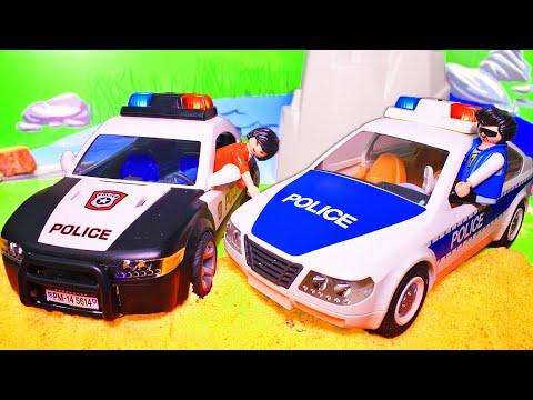 Игрушечные мультики про машинки - Полицейские машинки для детей - все серии подряд без остановки