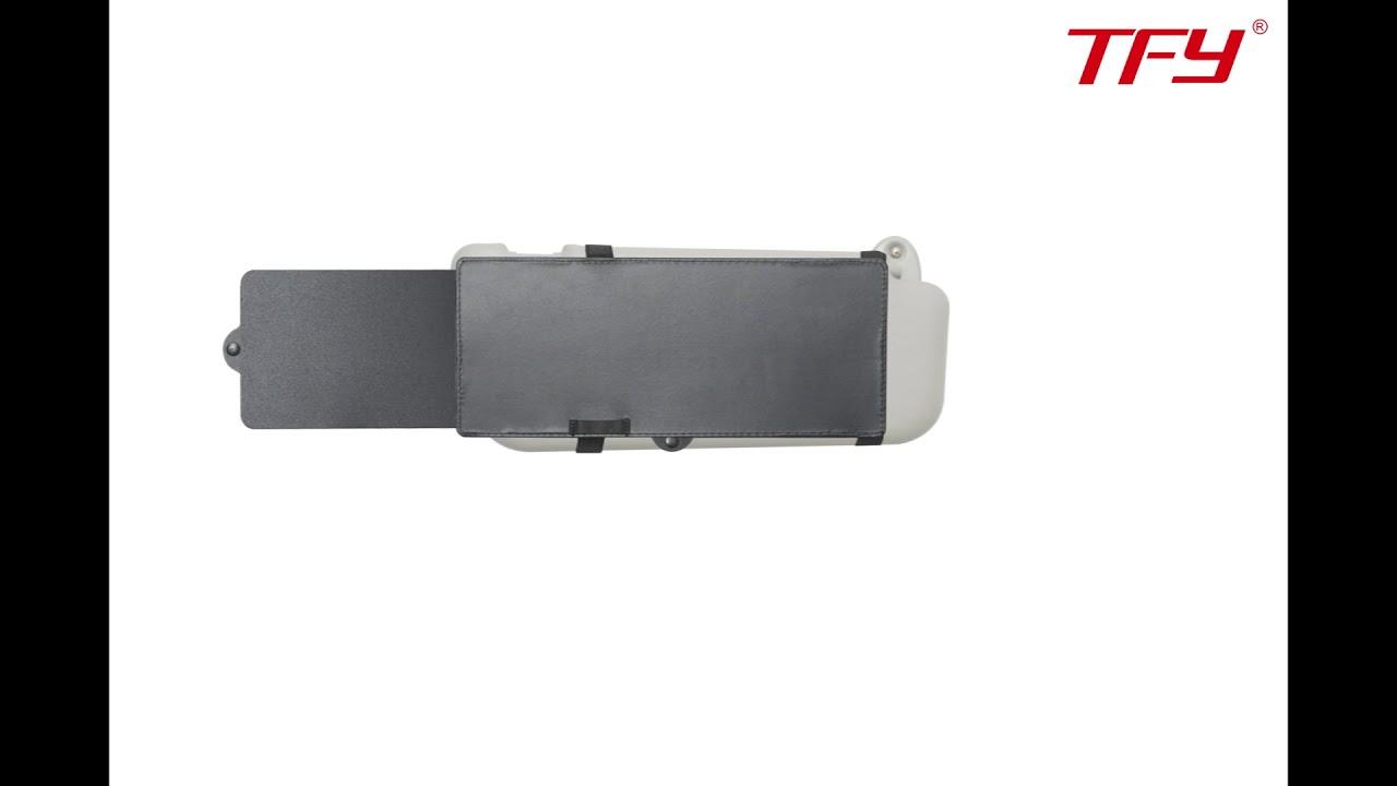 TFY Car Visor Extender Anti-Glare Sun Visor Extender Window Sunshade and UV Rays Blocker Black