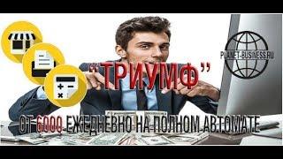 система заработка триумф | заработок 6000 рублей в день
