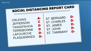Louisiana gets D-grade for social distancing; New Orleans A-minus