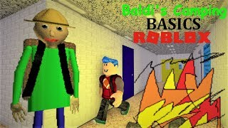 WHY IS THERE A CAMPFIRE IN THE SCHOOLHOUSE?! | * CAMPING BALDI * The Weird Side of Roblox
