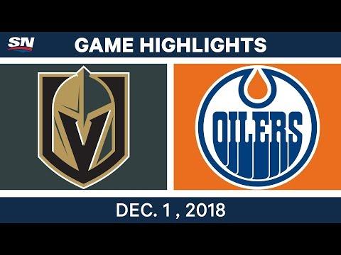 NHL Highlights | Golden Knights vs. Oilers - Dec 1, 2018