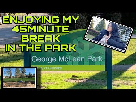 ENJOYING MY 45 MINUTE BREAK IN THE PARK