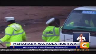 Polisi wa trafiki wafumaniwa wakila mlungula barabarani