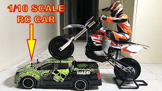 Giant Brushless RC Motorbike - BSD Racing 404T UNBOXING