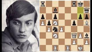 Карпов громит Спасского в Ферзевом гамбите! Шахматы.