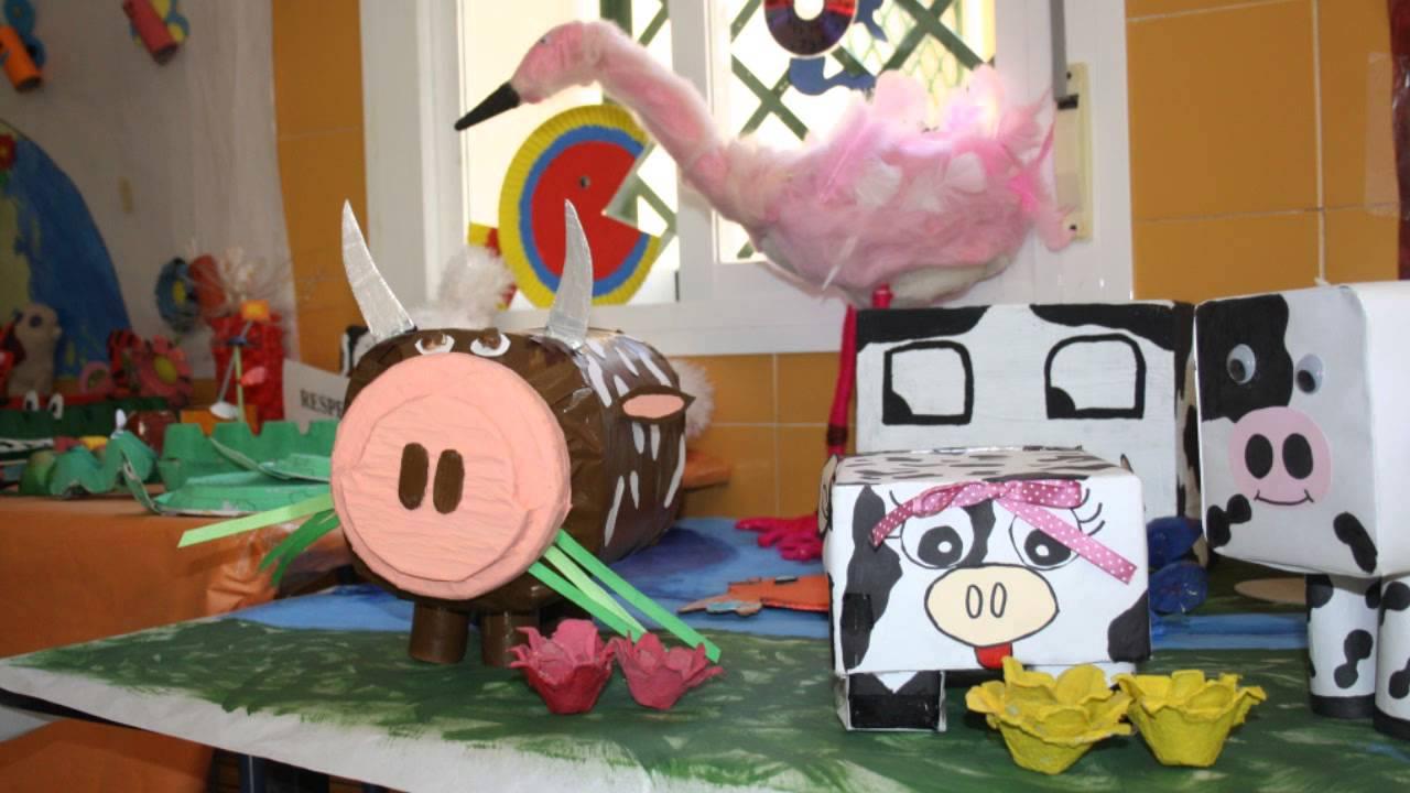 Animales Con Material Reciclado Youtube