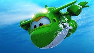 Супер Крылья - Самолет под водой! Все серии про водный самолет Миру! Мультики для детей