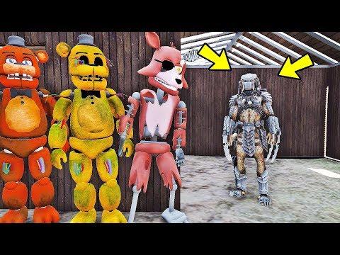 ANIMATRONICS Podem SOBREVIVER ao Alien Predador? | GTA V Five Nights at Freddy's