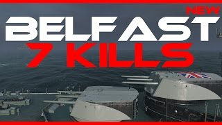 new uk cruiser belfast op 7 kills world of warships