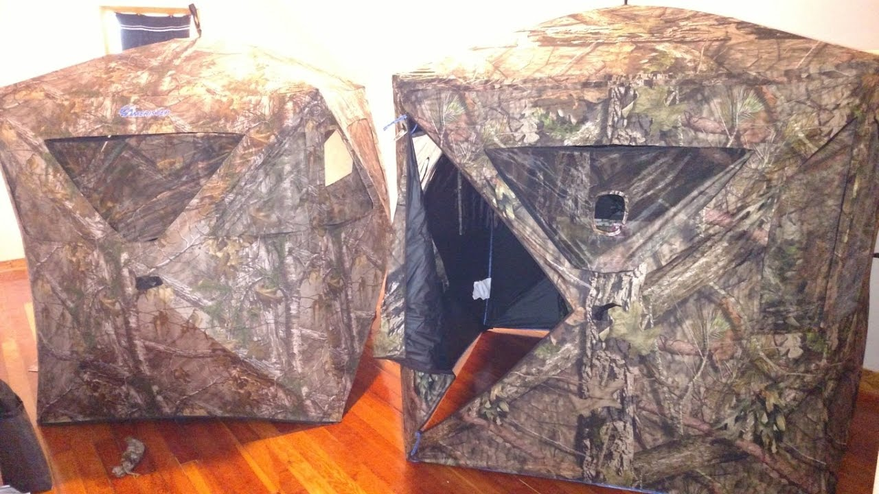 man youtube watch ameristep review blinds blind hunting cave