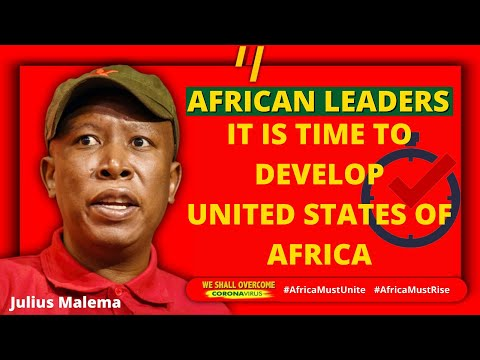 This is the right time to develop UNITED STATES OF AFRICA | Julius Malema to African Leaders